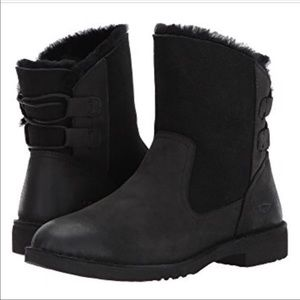 NIB! BLACK UGG WINTER BOOTS WOMENS NAIYAH SIZE 6.5